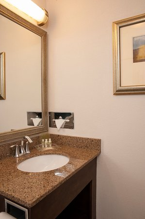 Itasca, IL: Guest Bathroom with New Elegant Vanity