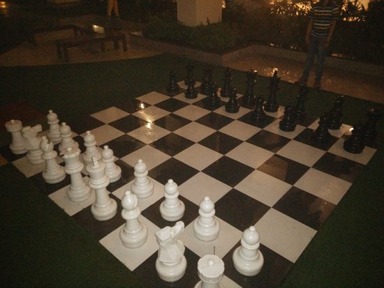 Greater Noida, India: Life-size chess