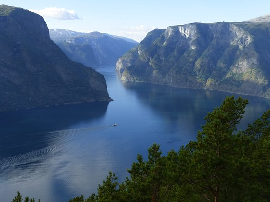 Aurland Municipality, Norway: View from the viewpoint