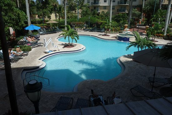 Wyndham Palm-Aire: view from room 251 - 2 bedroom condo.