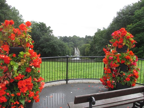 Chirk, UK: From bridge over canal and railway