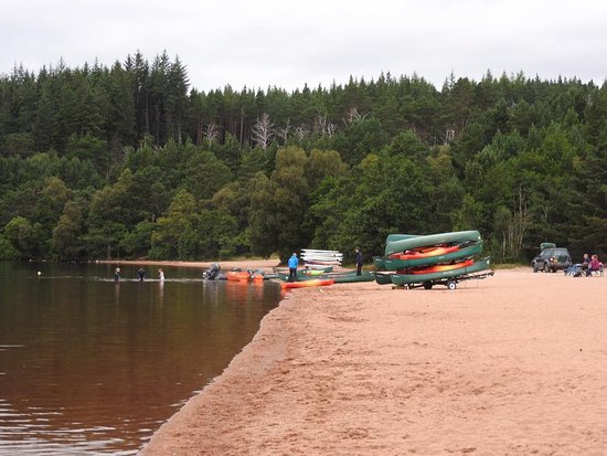 Aviemore, UK: boats ready for use