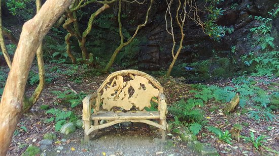Strathcarron, UK: Carved wooden chair