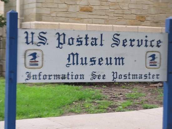 Sign for the US Postal Museum in Marshall MI