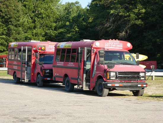 Baldwin, MI: Bus fleet for picking up and dropping off clients