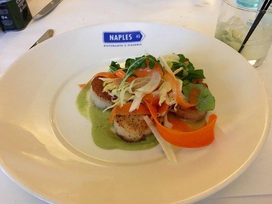 Naples 45 Ristorante e Pizzeria: Scallops prepared to perfection !