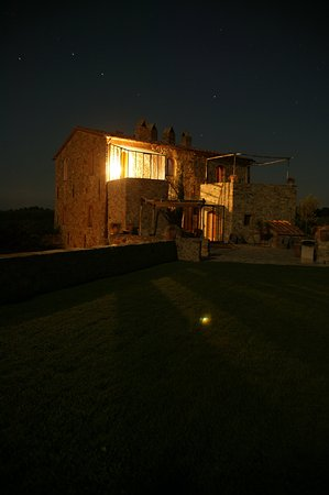Castello Di Vicarello By Night