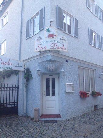 Dillingen, Germany: Eingang zum leider geschlossenen Restaurant.