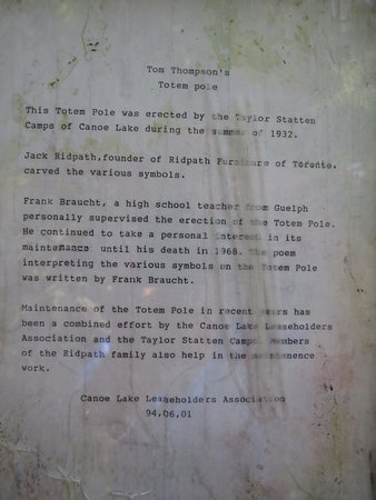 Algonquin Provincial Park, Kanada: Note describing history of the cairn