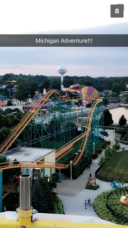 Michigan's Adventure: from on top of a roller coaster