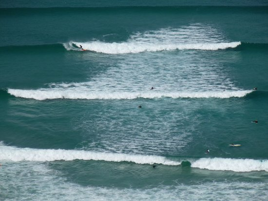 Surfing at Sennen Cove.
