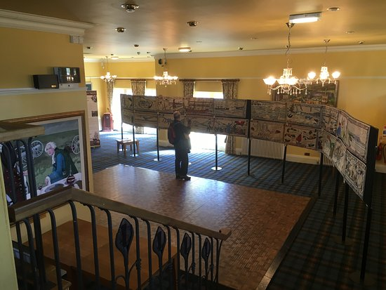 Upstairs Function Room housing an exhibition of the Battle of Prestonpans Tapestry