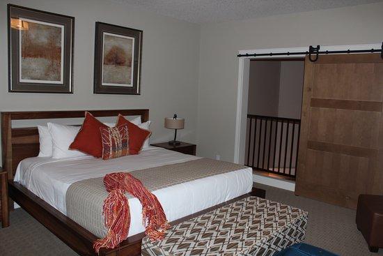 The Summit At Grande Rockies Master Bedroom Is Loft Style Overlooking Living Room But Door