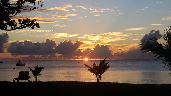 New Castle, Nevis: Sunset from our balcony