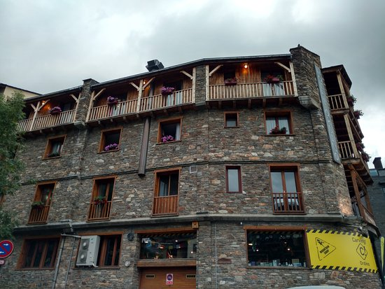 Ordino, Andorra: View of the hotel from outside