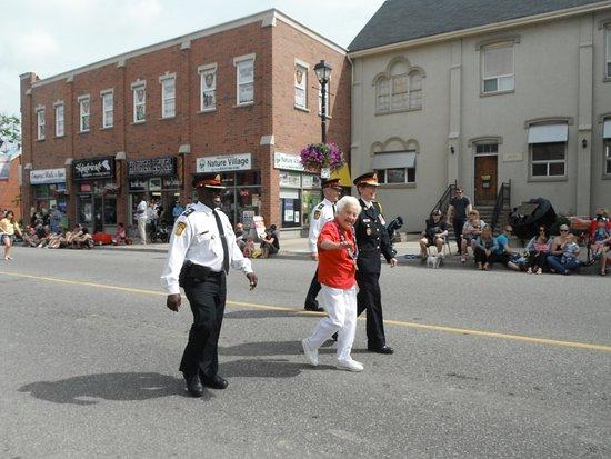 Streetsville Bread and Honey Parade led by Mayor Hazel McCallion in 2013.