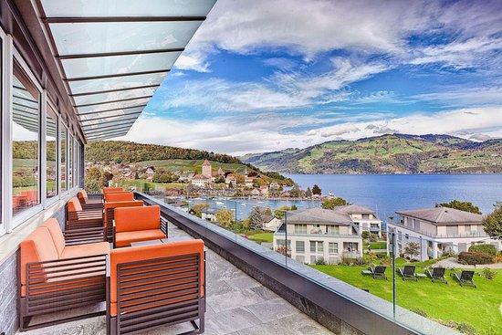 Spiez, Suiza: Lunge / Terrace