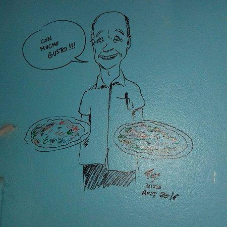 Эль-Кастильо, Коста-Рика: Fun new drawing on the wall