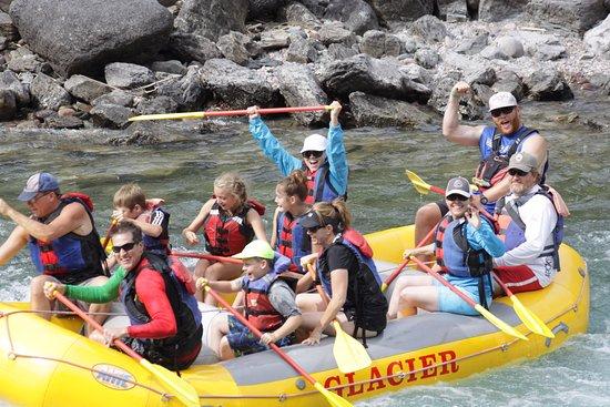 West Glacier, MT: Nate leading us through the rapids