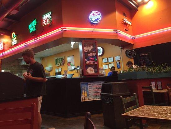 Carrboro, NC: Inside Armadillo Grill.