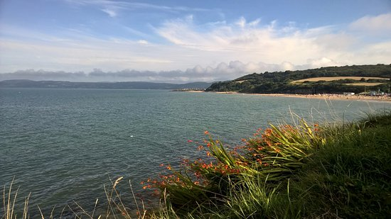 View towards Benllech Beach and Red Wharf Bay taken from the coastal footpath near the Sea View