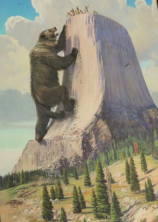 Devils Tower, WY: picture in visitor center