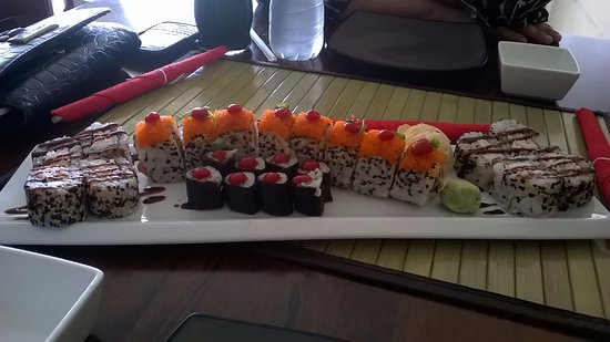 Piarco, Trynidad: sushime platter
