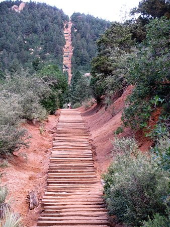 Manitou Springs, CO: The Incline, 2,000 ft elevation in less than a mile