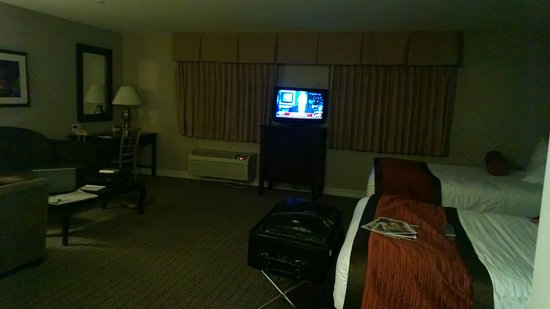 Tuscany Suites & Casino: bad angle but this is our room. its much bigger than appears