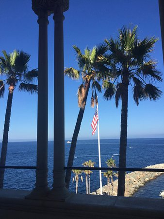 Catalina Island Casino Ballroom : View of Palms and the Pacific