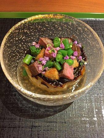 Ashiya, Japonia: 炊き合わせ:なす田楽