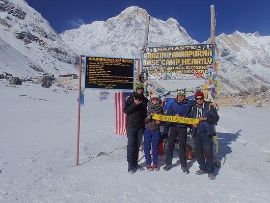 Kathmandu Valley, Nepal: Dream come true. From left; Izwan, Ira, Deepak and Shah.