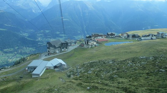 Aletsch Glacier: views of Fiescheralp station and area