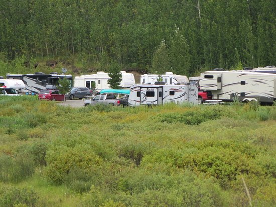 Iskut, Canadá: View of the campground