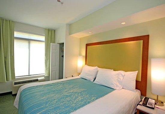 SpringHill Suites Winston-Salem Hanes Mall: King Suite Sleeping Area