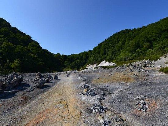 Mt. Osore Sai no Kawara : こっちは流れがあるようです