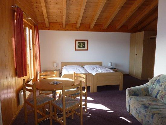 Bettmeralp, Svizzera: Family room southern view