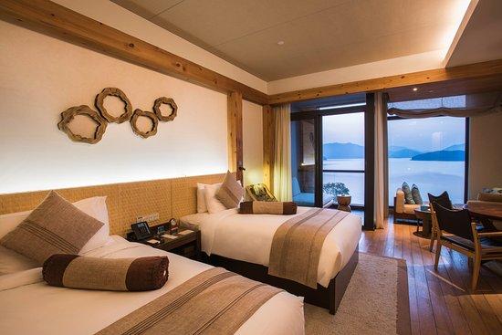 Chun'an County, Çin: Twin Bed Deluxe Lake View Room