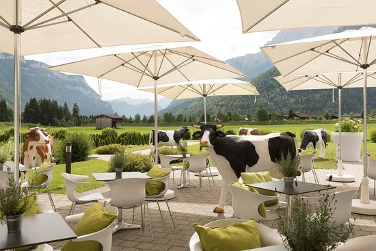 Waidring, Austria: Terrace at KUHOTEL by Rilano