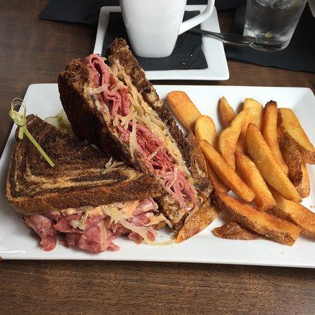 Frisco, CO: Reuben sandwich with fries