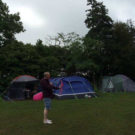 Camping at lazonby pool campsite - Aug 2016