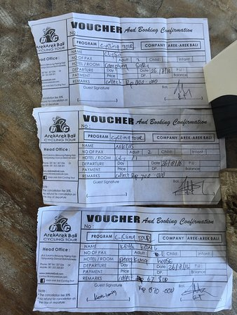 Arekarek Bali Cycling: 3 different prices for 5 people! One got totally scammed by this company!