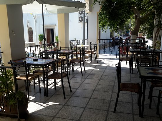 Kamilari, Grekland: Under the veranda