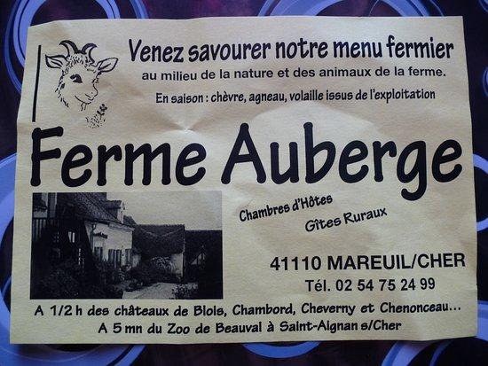 Mareuil-sur-Cher, Франция: La ferme.