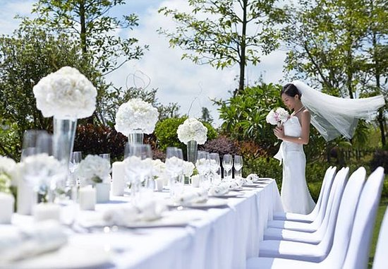 Huizhou, China: Outdoor Wedding Setup Details