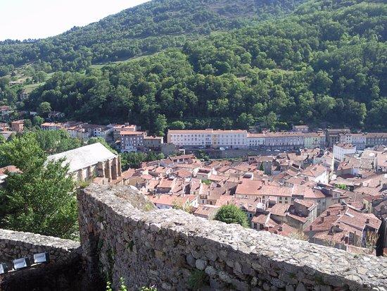 Foix, فرنسا: Vue depuis le château