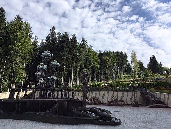 Skhodnitsa, Ukraina: территория, фонтан.