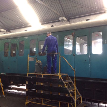 Shepton Mallet, UK: Our day at the East Somerset Railway . On a Steam Day late July
