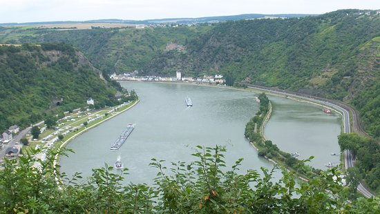 Urbar b Koblenz am Rhein, Jerman: vue sur le Rhin de Loreleyblick Maria Ruh