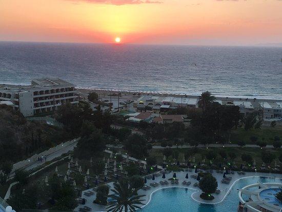 Atrium Platinum Hotel: View from the al-a-carte restaurant